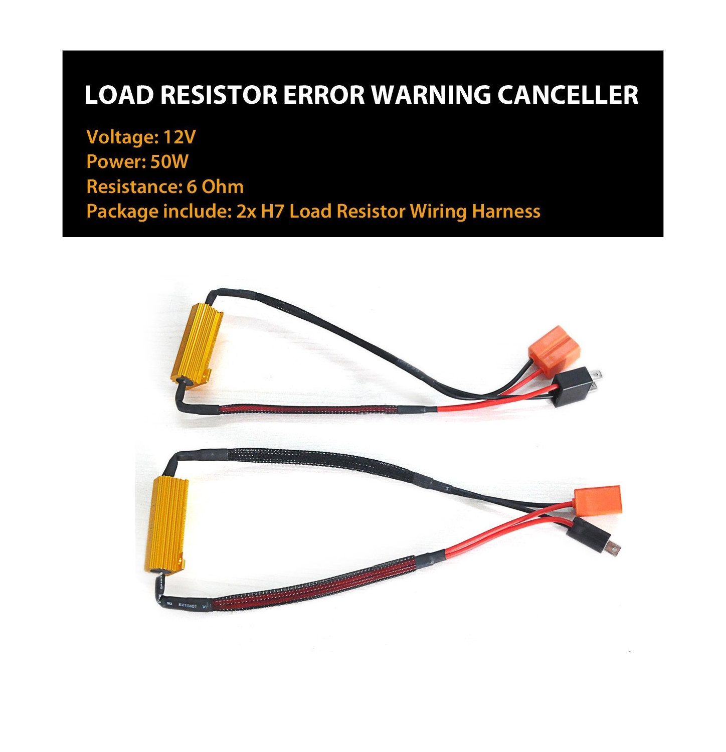 Lasfit Rdh7 Led Headlight High Low Beam Canbus Error Free Anti H7 Wire Harness