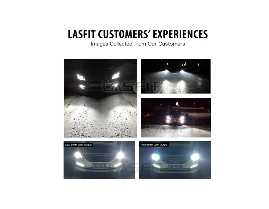 4-Side H13 9008  LED Headlight Bulb Kits 6000K Hi//Lo Dual BEAM For Ford 2018 2X